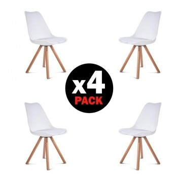 Chaises Blanches similicuir