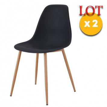 chaises noirs style scandinave