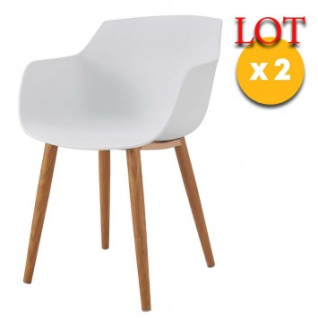 chaises blanches type fauteuil
