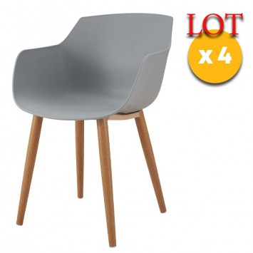 chaises gris scandinaves
