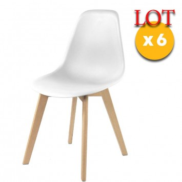 chaises scandinaves blanches