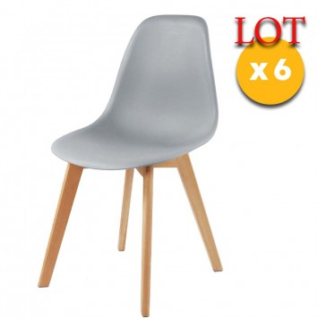 chaises scandinaves gris