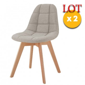 chaises scandinaves beiges