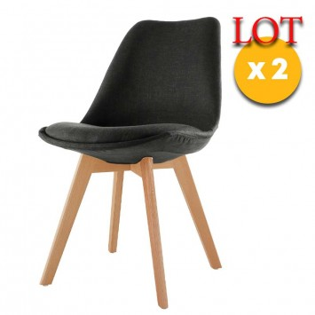 chaises anthracite